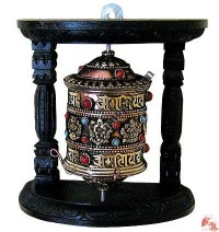 Table stand wall hanging prayer wheel 1