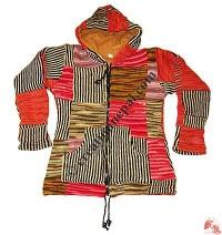 Woolen patch-work ladies jacket12