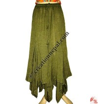 Triangular frills khaddar cotton skirt