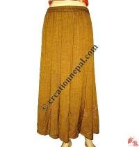 Umbrella design cotton long skirt