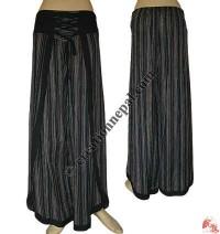 Sides open cotton trouser