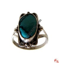 Butterfly design turquoise silver finger ring