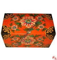 Big size wooden Tibetan painted box
