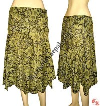 Cotton printed skirt