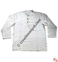 Hemp color cotton Kurtha