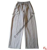 Hemp color shyama cotton trouser