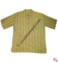 Stripes cotton Kurtha - shirt
