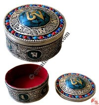 Stone decorated filigree jewelry box2