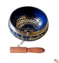 Painted singing bowl (blue)