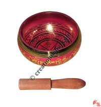 Painted small size singing bowl (Pink)