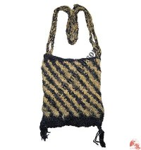 2-color banana silk crochet bag