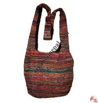 Recycled silk fine-knit jogi bag