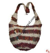 Recycked cotton crochet bag1