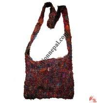 Recycled cotton crochet bag