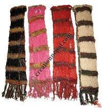 Art silk mixed color net muffler
