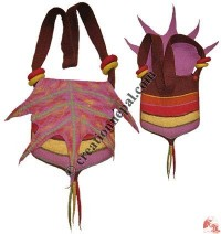Leaf design flap 5-color bag