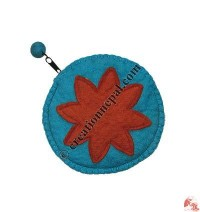Round shape sun felt purse
