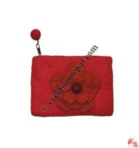 Flower felt coin purse8