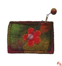 Mixed color felt coin purse3