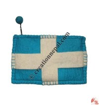 Flag design felt purse