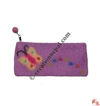 Flying butterfly felt purse
