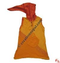 Khaddar hooded kids dress