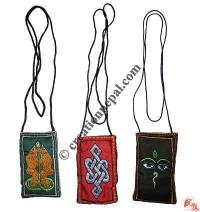 Embroidered mobile bag - set of 3