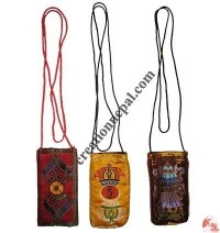 Tibetan silk mobile bag