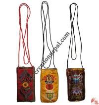 Tibetan silk mobile bag - set of 3