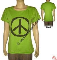 Peace sign rib t-shirt