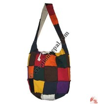 Colorful patch-work rib lama bag