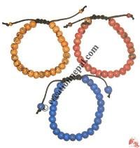 Colored bone beads bracelet