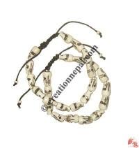 Skull design bone bracelet
