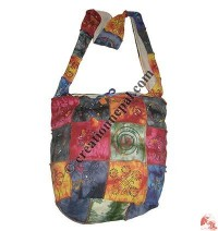 Patch-work rib colorful bag