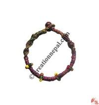 Beads decoration hemp bracelet