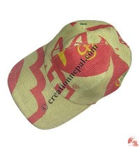 Jute colorful baseball hat
