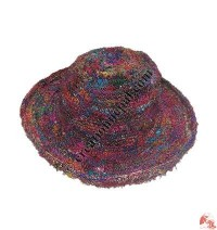 Colorful silk wire hat