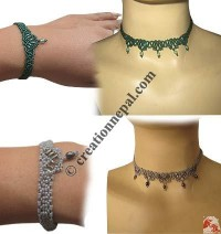 Denis pote necklace-bracelet set