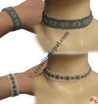 Colorful pote necklace-bracelet set 2