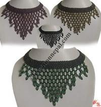 Long net design pote necklace
