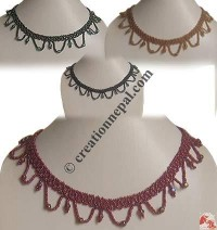 Frills pote necklace