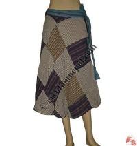 Patchwork khaddar wrapper skirt