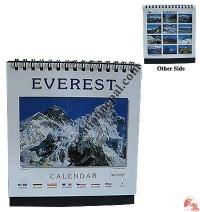 Tiny size Everest desktop calendar