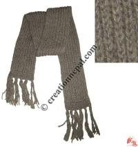 Grey color long muffler