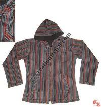 Stripes khaddar jacket