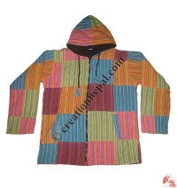 Gents khaddar patch-work jacket