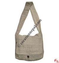 Plain color hemp flap bag