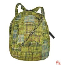 Cotton patch-work green bag