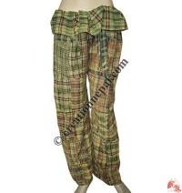 Patch-work stone wash Thai trouser2