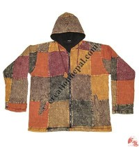 Cotton colorful patch-work jacket